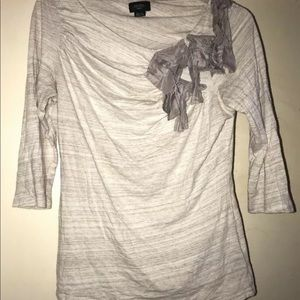 Anthropologie Delete Lace Stretch Long Sleeve M